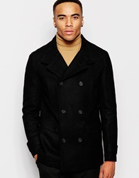 New Look Wool Blend Military Jacket Black