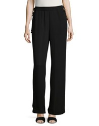 T Tahari Joy Wide Leg Crepe Pants Black