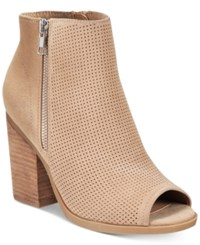 Call It Spring Metaponto Peep Toe Booties Women's Shoes Camel