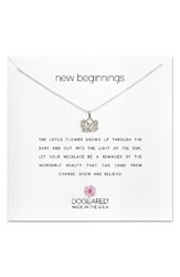 Dogeared Women's Lotus Reminder Pendant Necklace Silver