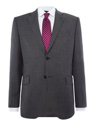 Howick Men's Tailored Gibson Check Suit Jacket Grey