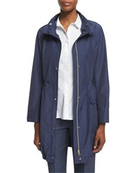 Peserico Polished Midi Drawstring Raincoat Women's