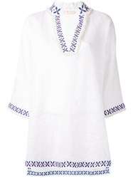 Tory Burch Embroidered Detail Tunic