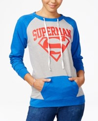 Bioworld Warner Bros Juniors' Dc Comics Superman Sweatshirt Heather Grey