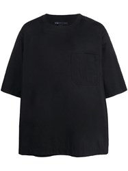 Y 3 Oversized Crew Neck T Shirt Black