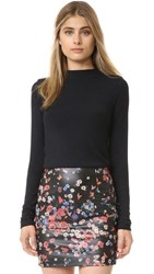 Alice Olivia Genova Fitted Sweater Black