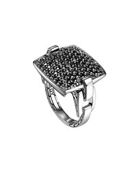 Pave Black Sapphire Ring John Hardy Silver