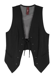 High Lad Black Jersey And Mesh Waistcoat