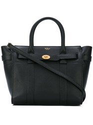 Mulberry Small Zipped Bayswater Bag Women Calf Leather One Size Black