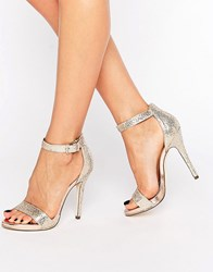 Call It Spring Sheren Gold Barely There Heeled Sandals Multi Metallic