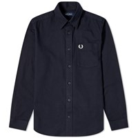 Fred Perry Brushed Cotton Overshirt Black