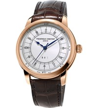 Frederique Constant Fc724cc4h4 Zodiac Rose Gold Plated Stainless Steel Watch