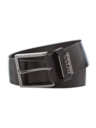 Hugo Boss Senol Vintage Look Leather Belt Black