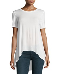 Philosophy Short Sleeve Sheer Back Top Fresh Lily