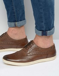 Base London Perform Oxford Brogue Shoes Brown