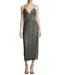 af2ad3c2fb7 Haute Hippie Tess V Neck Sleeveless Floral Lace Cocktail Dress Black