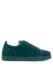 Christian Louboutin Louis Junior Studded Suede Trainers Green