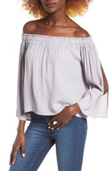 Astr Women's Annabelle Off The Shoulder Blouse Lilac