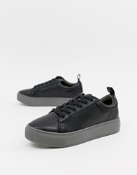 Matt And Nat Lace Up Trainers Black