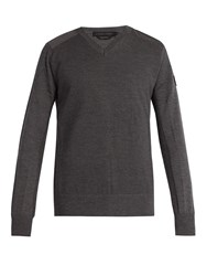 Canada Goose Mcleod Merino Wool Sweater Dark Grey