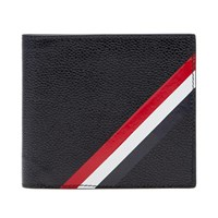Thom Browne Diagonal Stripe Card Billfold Wallet Black