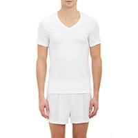 Hanro Men's Superior V Neck T Shirt White