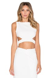 Rise Of Dawn Go All Night Crop Top White