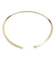 Robert Rose Embossed Floral Collar Necklace Gold