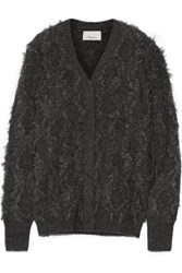 3.1 Phillip Lim Fringed Knitted Cardigan Charcoal