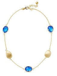Rivka Friedman Blue Crystal And 18K Gold Layered Necklace