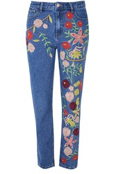 Glamorous Embroidered Jeans Blue
