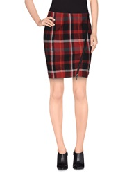 Eleven Paris Knee Length Skirts Brick Red