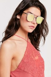 Urban Outfitters Space Age Half Frame Sunglasses Gold