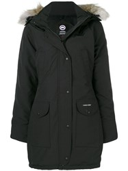 Canada Goose Fur Trimmed Parka Coat Black