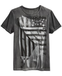 Guess Abstract American Flag T Shirt
