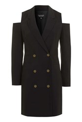 Topshop Cut Out Blazer Dress Black