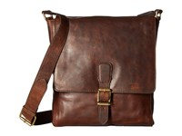 Frye Logan Small Messenger Dark Brown Messenger Bags