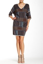 Glam Printed Dress Brown