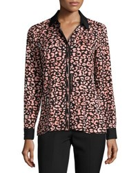 Karl Lagerfeld Printed Button Front Shirt Multi Pattern