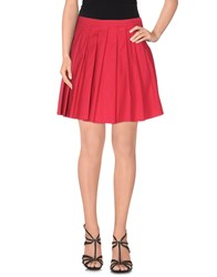 Please Skirts Mini Skirts Women Red
