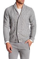 The Fresh Brand Jeremy Cable Knit Sweater Gray