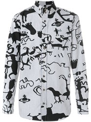 Vivienne Westwood Printed Button Shirt White