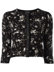 Twin Set Floral Print Cardigan Black