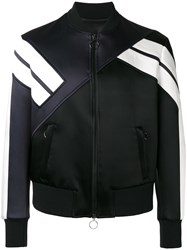 Neil Barrett Panelled Bomber Jacket Black