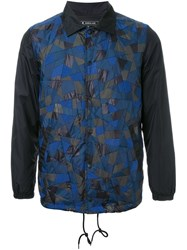Anrealage 'Patchwork Coach' Jacket Blue