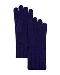 C By Bloomingdale's Cashmere Ribbed Gloves Midnight