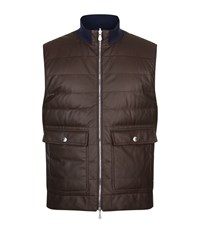 Brunello Cucinelli Reversible Quilted Gilet Male Brown