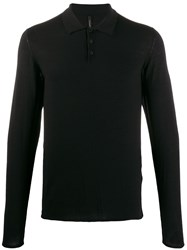 Transit Long Sleeve Polo Shirt Black
