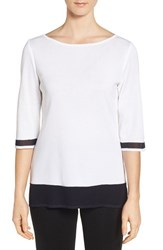 Ming Wang Women's Contrast Knit Tunic