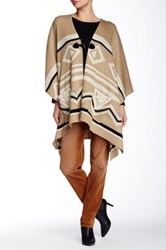 Democracy Tribal Sweater Poncho Brown